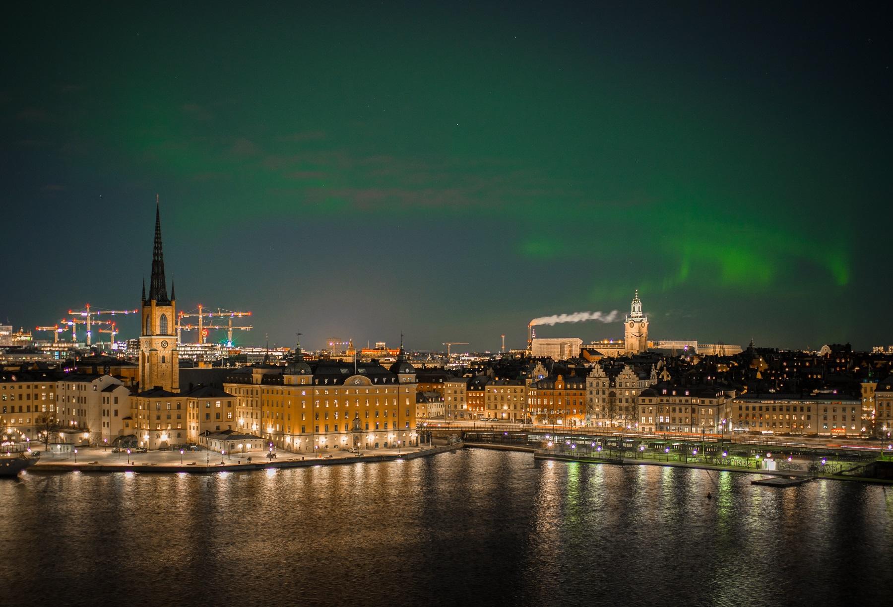 Stockholm nordlys